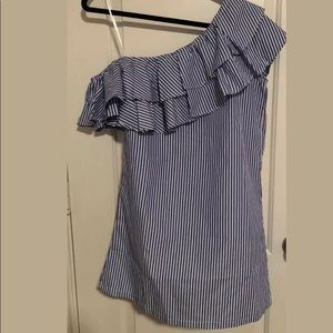 Boohoo Off the Shoulder Striped Dress Size 4